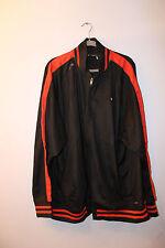 New Rocawear R metal logo zipper up track jacket solid black men's 4X Big&Tall