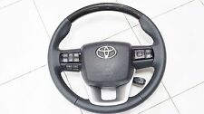 STEERING WHEEL TOYOTA TRD NEW FORTUNER 2015-17 GENUINE KEVLAR - PADDLE SHIFTERS