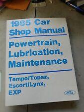 Nos 1985 Ford Escort Exp Tempo Mercury Topaz Lynx Powertrain Shop Service Manual