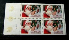 US Booklet Panes Stamps Scott# 2582a  Christmas  1991 MNH Pane of 4 L285