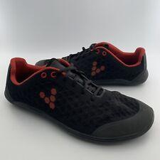 Vivobarefoot EU Size 42M Outlast Stealth Mesh Minimalist Sneakers Black Red