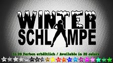 Winterschlampe Winterauto Auto Aufkleber Sticker 20cm x 10cm