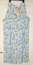Disney Store Winnie The Pooh Dress XL FLORAL Blue Green Eeyore Flowers Vintage