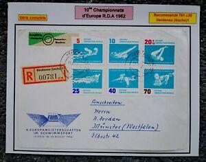10e championnat d'Europe, sports nautiques. RDA 1962