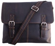 Umhängetasche/Messenger Vintage Büffel Leder 13'' Tablet Braun ↔33x↕25x8 cm SALE