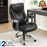True Wellness Black Bonded Leather Chair office Managers Executive contemporary