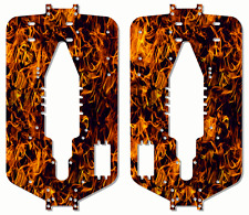 Traxxas T-maxx 3.3 Extended Chassis Plate Protector Kit Orange Flames TRA5122X