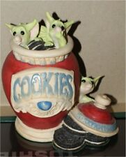 The Whimsical World of Pocket Dragons Raiding cookie Jar Hi by Real Musgrave