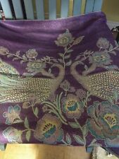 Peacock Turquoise Wrap Shawl Scarf Sparkling Beautiful