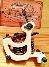BORDER TATTOO MACHINE,LINER CUSTOM IRON WHITE FRAME CUSTOM 7&HALF LAYER COILS