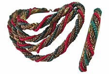 "VINTAGE SIGNED MIRIAM HASKELL 42"" ROPE NECKLACE HINGED BRACELET BEADS BEADWORK"