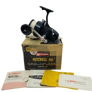 Garcia Mitchell 496 Salt Water RH Open Face Spinning Reel In Box w/Paperwork