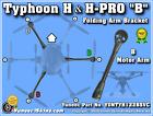 Yuneec Folding Arm Bracket B fits Typhoon H/H-PRO YUNTYH122BSVC