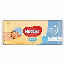 Huggies Pure Baby Wipes - 56 Count Perfume Free 1 case is 560 wipes