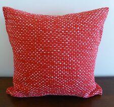 Villa Red Heavy Woven Cotton Cushion Cover 45x45