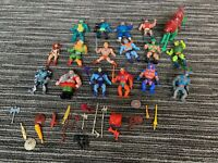 Vintage Mattel MOTU Action Figures He Man Masters Of The Universe 80's Lot Of 17