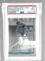 Fernando Tatis Jr. 2019 Topps Clearly Authentic Rookie Autograph PSA 9