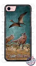 Dinosaurus Fighting T-Rex Customize Phone Case Cover For iPhone Samsung LG etc