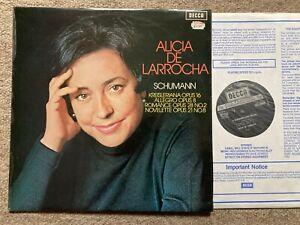 ALICIA DE LARROCHA Schumann Recital ORIG Decca NB SXL 6546 UK.. NM