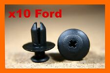 10 Ford Pare-chocs Fender éraflures Frotter Plastique Attaches Poussoir Vis Clips