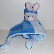 Doudou Lapin Gipsy - Bleu Feuille Verte