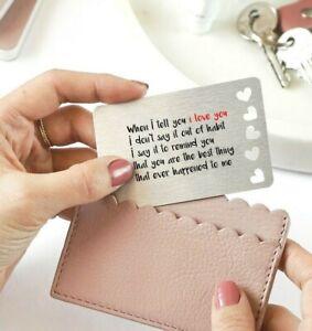 Sentimental Keepsake - When I Tell You I Love You .. Metal Wallet Card Gift