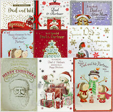 Dad And Step-Mum / Wife / Partner Christmas Cards - Various Designs
