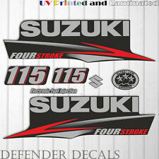 Suzuki 115 hp Four Stroke outboard engine decal sticker set kit reproduction
