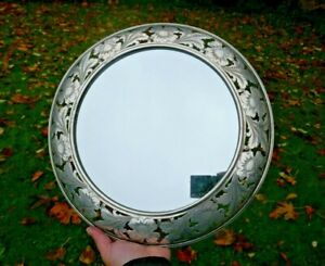 Antique Durgin Sterling Wall Mounted Mirror  , Victorian Display Plateau Mirror