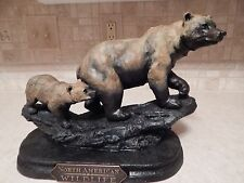 "Big Sky Carvers ""Mountain Matriarch"" Bear & Cub Sculpture ""Keep Up"""