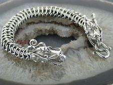 Pulsera dragón pulsera plata plata 925 y acero inoxidable 316l dragones Dragon