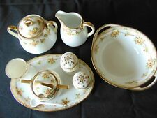 NIPPON Porcelain Hand Painted MORIAGE Cond. Set RARE FIND - ALL 11 PCS -pre1921