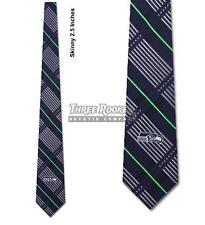 Skinny Seahawks Tie Licensed Neck Ties Seattle Seahawks Neckties NWT FREE SHIPPI