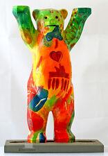 Buddy Bear Berlín No. 1 oso nuevo/en el embalaje original 22cm grande incl. placa de vidrio Berliner souvenir