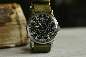 Men's Watch Laco Pobeda Pilot Mechanical WristWatch Soviet USSR MILITARY ZIM