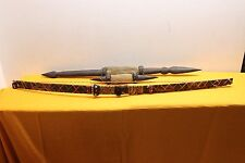 African Ceremonial Bow and 2 Staffs Baboon/Snakeskin VooDoo? Art Old