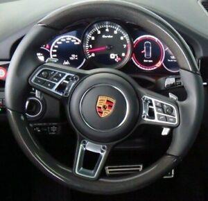 Porsche OEM 9Y0 Cayenne 2018+ Carbon Fiber & Leather Steering Wheel Brand New