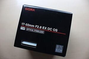 New SIGMA 17-50 mm F2.8 EX DC OS HSM Zoom Lens for Pentax Japanese Market Model
