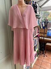 Baby Dusky Pink Pleated Cape Dress Wedding Asos Plus Size Curve 20