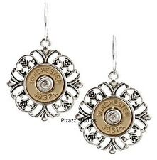 Winchester 38 Special Dangle Womens Fashion Gun Bullet Earrings Jewelry 25-7