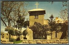 Oldest Church in US ~ Santa Fe NM ~ San Miguel Church ~ Petley postcard 1950s