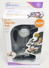 Dream Baby Stroller Buddy Ezy-Fit Clip-On Foam Fins Fan New In Box