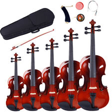More details for glarry 1/2 1/4 3/4 4/4 size acoustic maple violin w/case bow rosin tuner natural