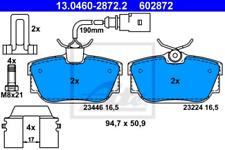 Bremsbelagsatz, Scheibenbremse für Bremsanlage Hinterachse ATE 13.0460-2872.2