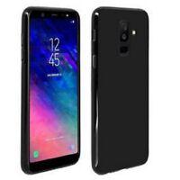 Coque Etui Silicone Noir Black TPU anti choc pour Samsung Galaxy A6 (2018)