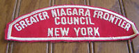 GREATER NIAGARA FRONTIER COUNCIL PATCH OA 159 284 CSP RED WHITE STRIP RWS MINT!