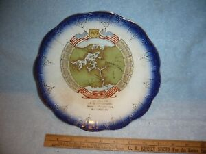 1915 readinger macungie pa calendar plate panama canal