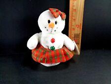 TY COOLSTINA Snowman Christmas Plush Holiday Decor Winter Stuffed Decoration