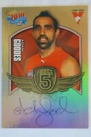 Sydney Swans AFL Collectable Select Force 5 Signature Football Card Adam Goodes
