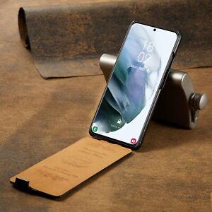 flip vertical Case For  Samsung S21 /S21+ Ultra vintage Leather business Cover